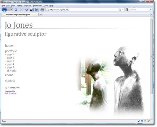 Screengrab of Jo Jones website