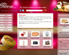 With Cheese website design